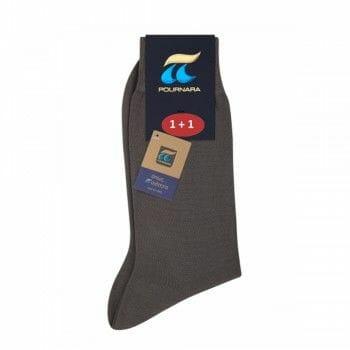 Ανδρική κάλτσα Πουρνάρας 100% βαμβάκι 1+1 Δώρο