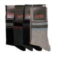 Ανδρική κάλτσα βαμβακερή με σχέδιο ριγέ