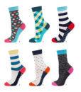 Γυναικεία κάλτσα βαμβακερή με σχέδια