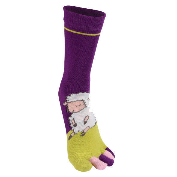 Γυναικεία κάλτσα με ξεχωριστά δάχτυλα σε διάφορα χρώματα