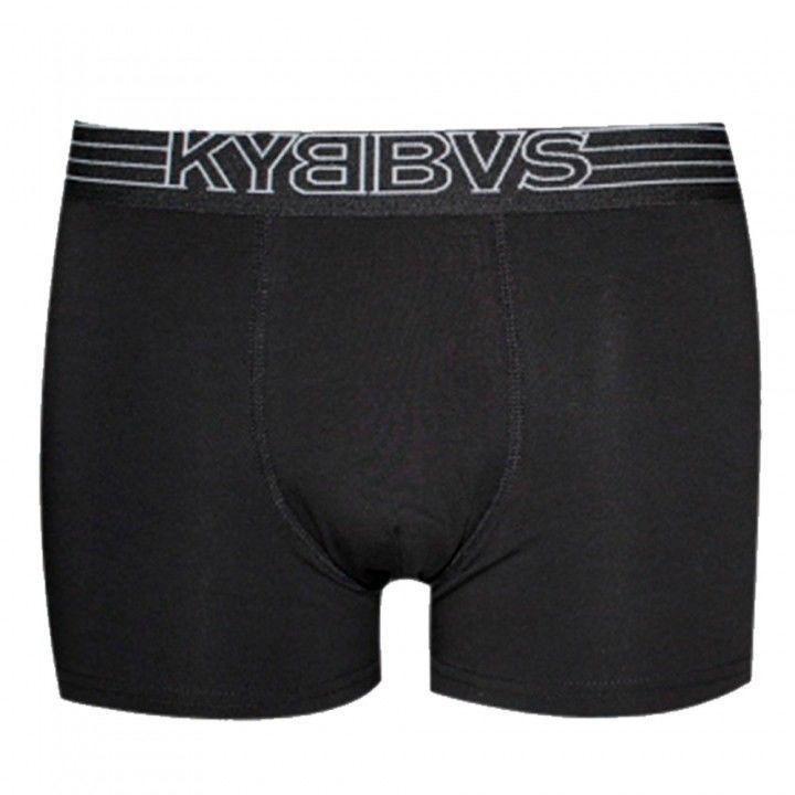 Ανδρικό μπόξερ με εξωτερικό λάστιχο  Kybbvs μαύρο