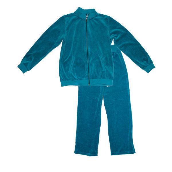 Γυναικεία φόρμα homewear veloute-βελουτέ με φερμουάρ