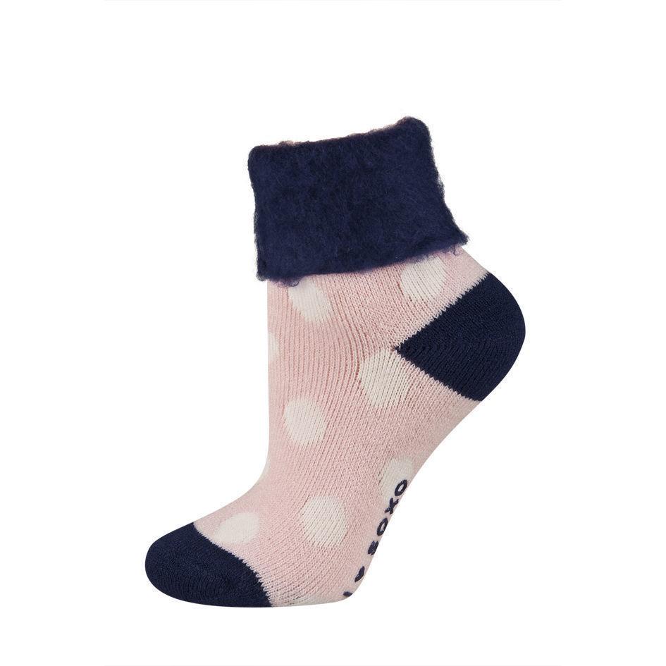 Γυναικεία κάλτσα ισοθερμική με σχέδια και φλις-fleece γύρισμα στο τελέιωμα
