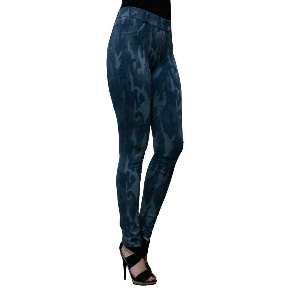 Κολάν-παντελόνι γυναικείο Denim Army μπλέ