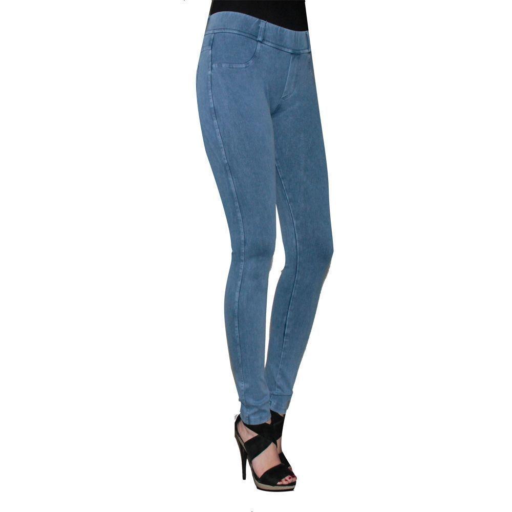Κολάν-παντελόνι γυναικείο Denim  μπλέ ανοιχτό