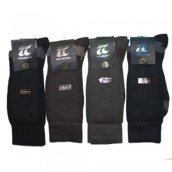 Ανδρική ισοθερμική κάλτσα Πουρνάρας 80% Μαλλί