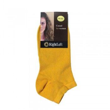 Γυναικεία κοφτή βαμβακερή κάλτσα Πουρνάρας με λεπτή πλέξη σε πολλά χρώματα