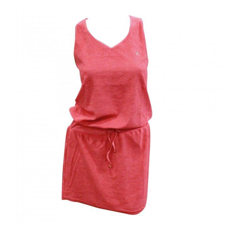 Φόρεμα θαλάσσης πετσετέ με παρτή πλάτη Harmony