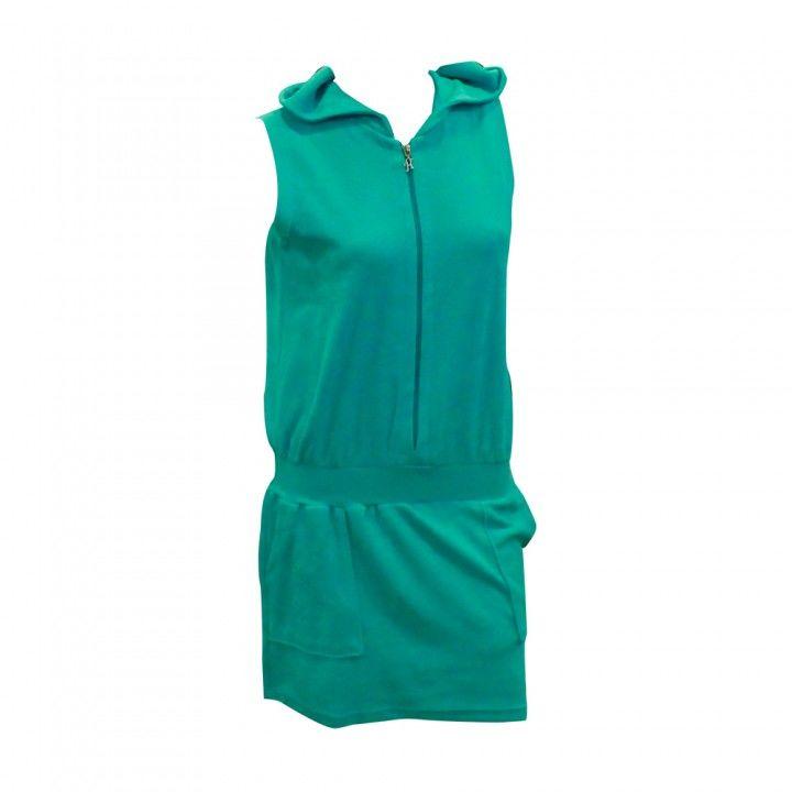 Φόρεμα θαλάσσης πετσετέ με φερμουάρ και κουκούλα Harmony