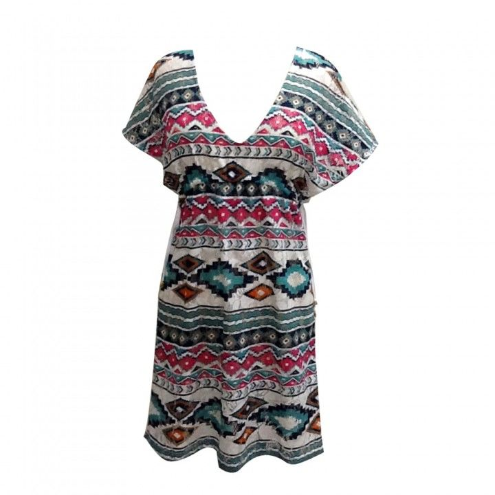 Φόρεμα θαλάσσης απο διάτρητο ύφασμα με σχέδιο στην ύφανση Harmony