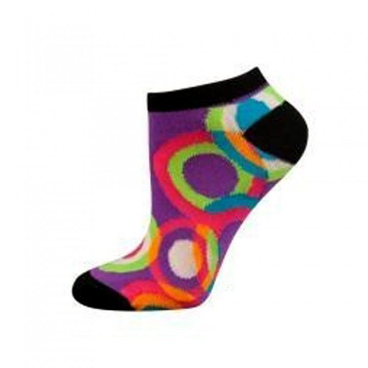 Γυναικεία κοφτή βαμβακερή φωσφοριζέ κάλτσα Soxo