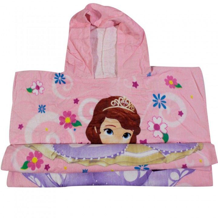 Παιδική πετσέτα θαλάσσης πόντσο  Disney Princess Sofia