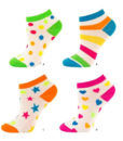 Γυναικεία κοφτή βαμβακερή κάλτσα Soxo πουά