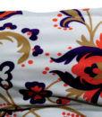 Μαγιό σλίπ brasil με βολάν και δέσιμο στο πλάι  White Floral Blu4u