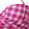 Μαγιό strapless push up με μπανέλα & ενίσχυση SBS ροζ καρό Cup B