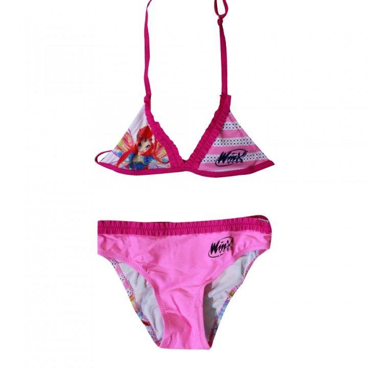Παιδικό μαγιό μπικίνι Winx ροζ χρώμα για τις καλύτερες εμφανίσεις των μικρών φίλων μας στην παραλία!