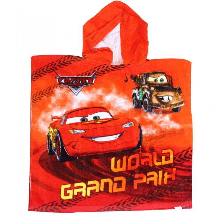 Παιδική πετσέτα θαλάσσης πόντσο  Disney Cars κόκκινη