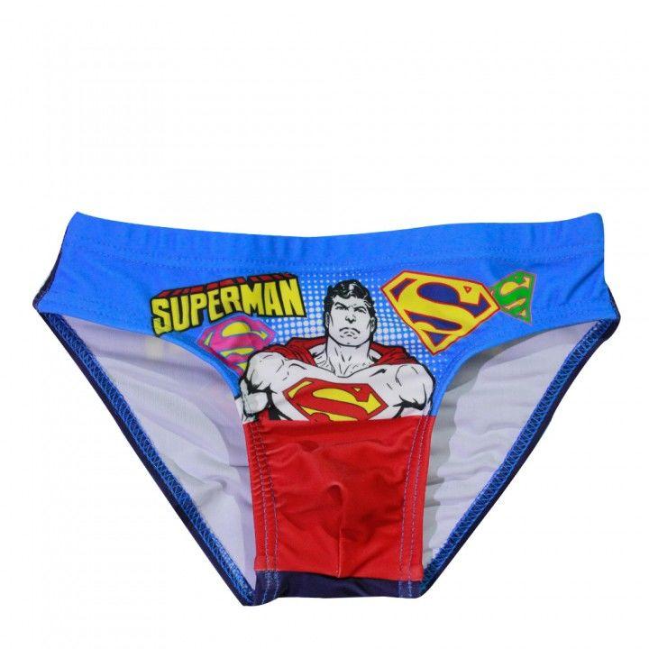 Παιδικό μαγιό σλίπ Superman  εμπριμέ με αναπαράσταση του παιδικού ήρωα