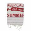 Πετσέτα-παρεό  θαλάσσης Keep Calm Pestemal σε διάφορα χρώματα