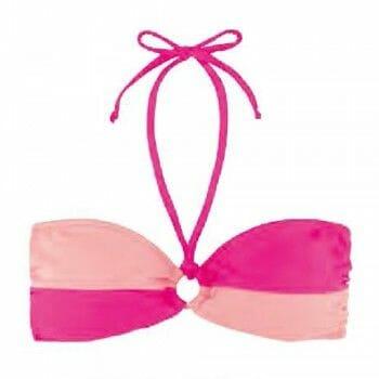 Γυναικείο μαγιό strapless δίχρωμο σε διάφορες αποχρώσεις