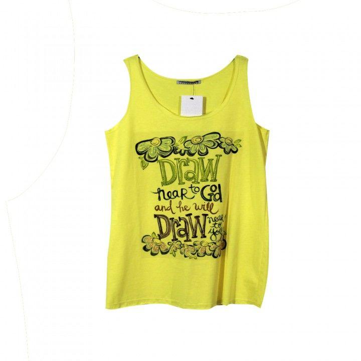 Γυναικεία μπλούζα αμάνικη Noobass με τύπωμα