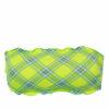 Γυναικείο strapless καρό Lime