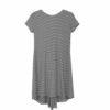 Φόρεμα mini ριγέ Noobass ασσύμετρο και πιο μακρύ στο πίσω μέρος. Κομψά και άνετα σχέδια για τις καθημερινές καλοκαιρινές σας εμφανίσεις!
