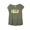 Γυναικεία μπλούζα κοντομάνικη Noobass με χρυσή στάμπα Intrepide