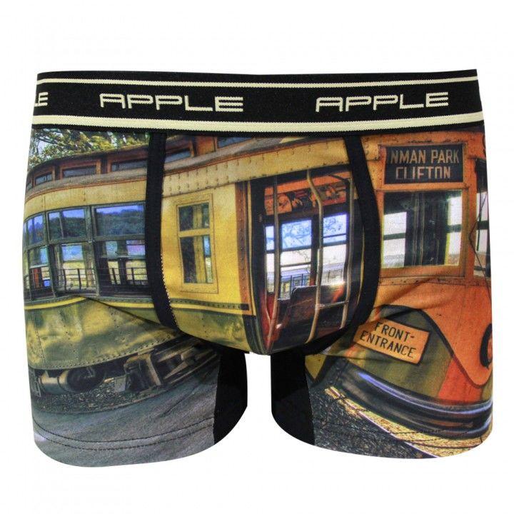 Ανδρικό μποξεράκι βαμβάκι λύκρα Apple εξωτερικό λάστιχο