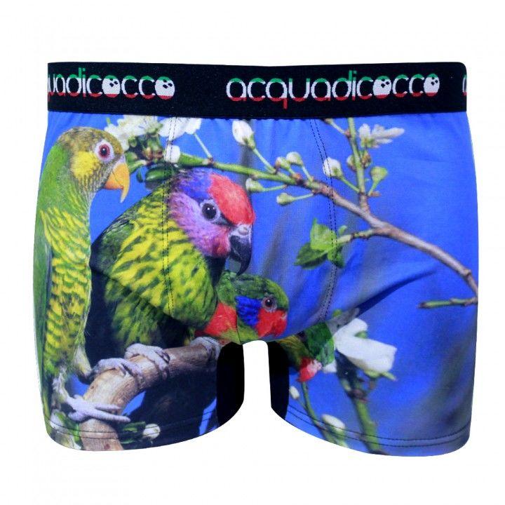 Ανδρικό μπόξερ Acquadicocco με τύπωμα Parrots Nature