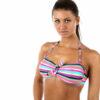 Γυναικείο μαγιό strapless Multi Color Stripes χωρίς μπανέλα
