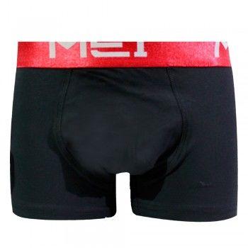 Ανδρικό βαμβακερό boxer MEI βαμβακερό μαύρο-κόκκινο