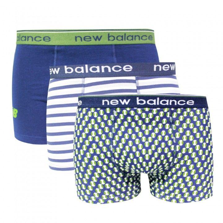 Ανδρικό βαμβακερό μπoξεράκι New Balance 3 Pack