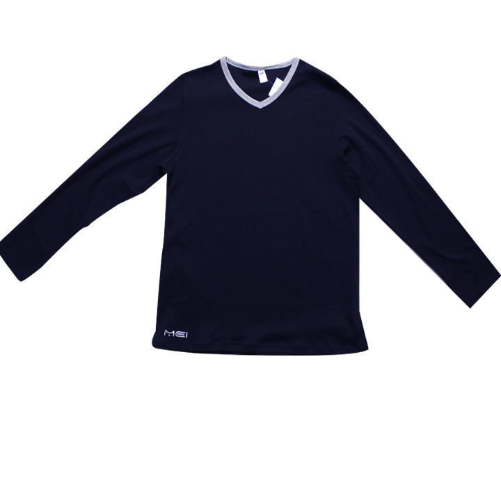 Ανδρική μπλούζα Mei μονόχρωμη με V λαιμόκοψη