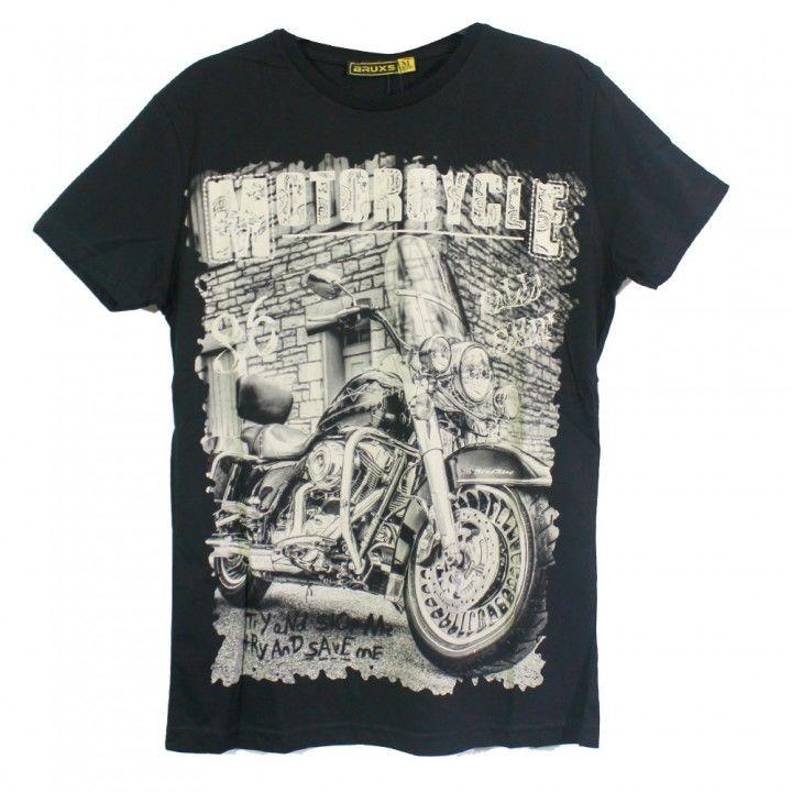 Ανδρική μπλούζα κοντό μανίκι σχέδιο Motorcycle