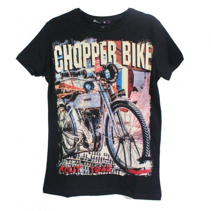 Ανδρική μπλούζα κοντό μανίκι σχέδιο Chopper Bike