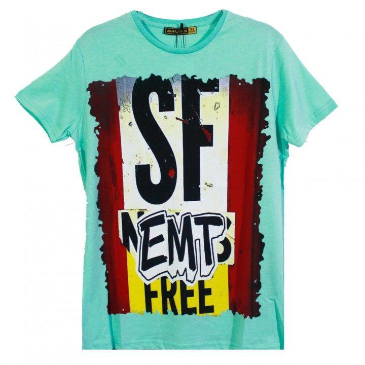Ανδρική μπλούζα κοντό μανίκι σχέδιο Free