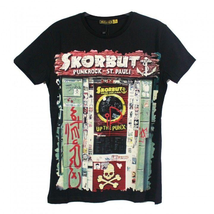 Ανδρική μπλούζα κοντό μανίκι σχέδιο Punkrock