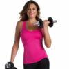 Αθλητικό T-Back Top Active Fit σε φούξια και μαύρο
