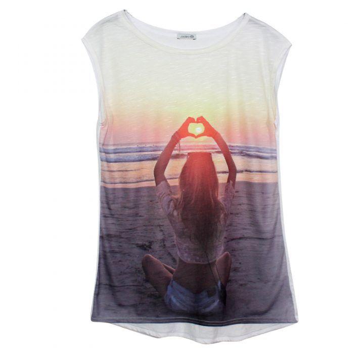 Γυναικείο μακρύ t-shirt jadea 4528
