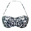 Γυναικείο μαγιό strapless Black & White Animal  Blu4u