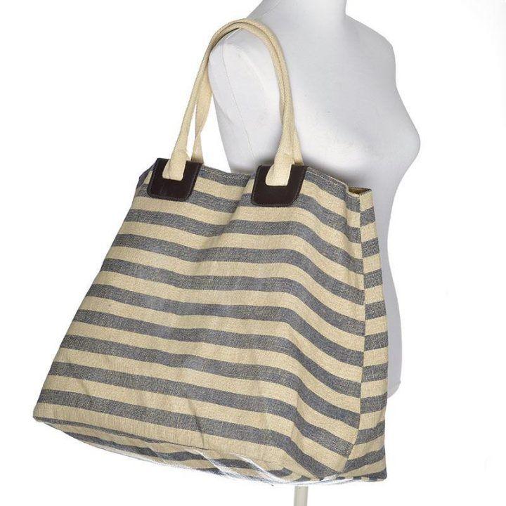 Γυναικεία τσάντα θαλάσσης μπλέ