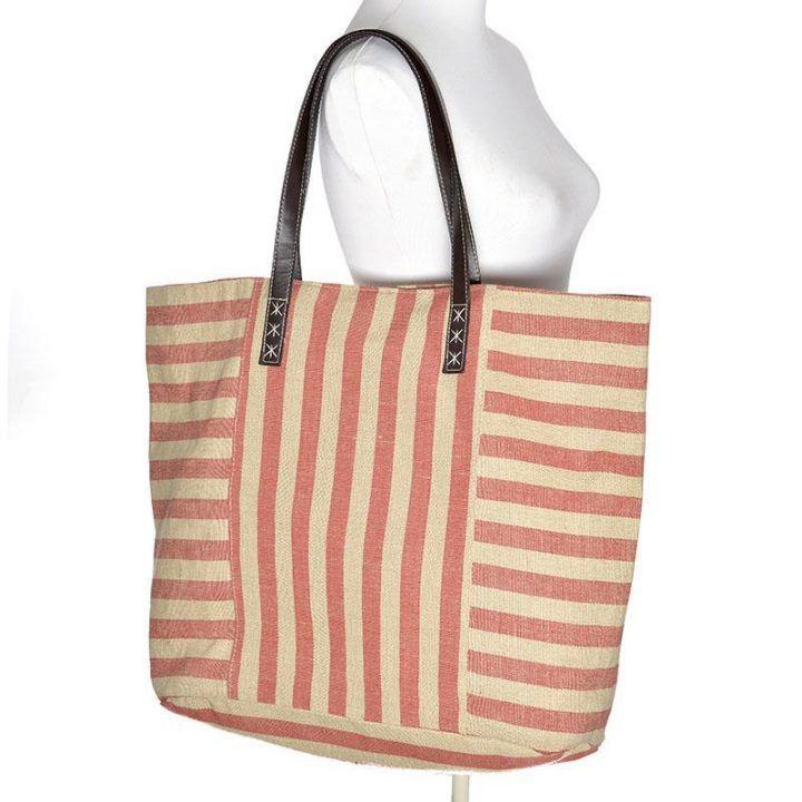 Γυναικεία τσάντα θαλάσσης κόκκινη