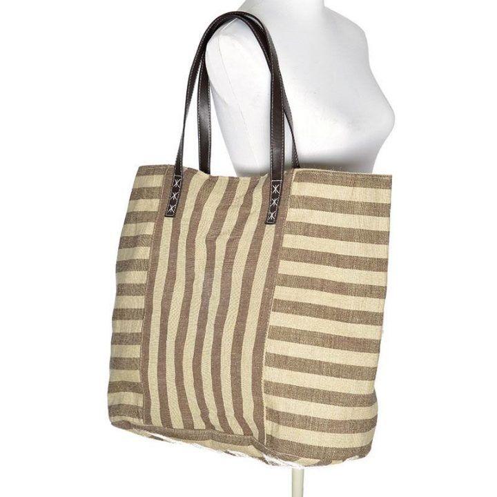 Γυναικεία τσάντα θαλάσσης καφέ