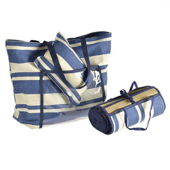 Γυναικεία ψάθινη τσάντα με ψάθα και μαξιλαράκι