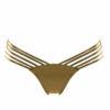 Γυναικείο μαγιό σλιπ χρυσό με κοψίματα Bluepoint  606511