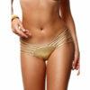 Γυναικείο μαγιό σλιπ χρυσό με κοψίματα Bluepoint  606511 Full Image