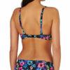 Γυναικείο μαγιό strapless με τιράντα Black Blue Floral