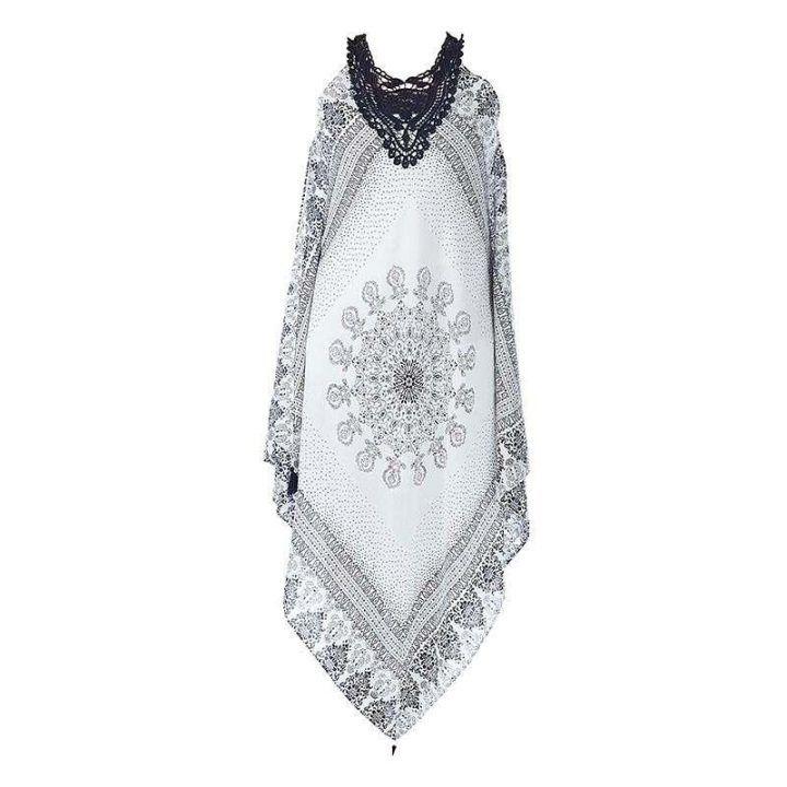Φόρεμα γυναικείο λευκό μπλέ με κέντημα