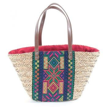 Γυναικεία τσάντα θαλάσσης ψάθινη Boho